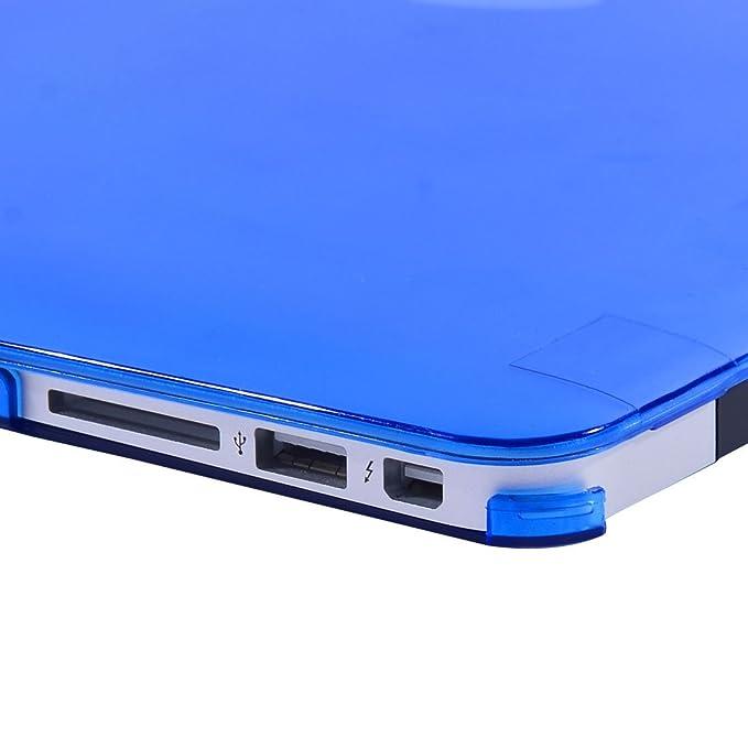 Amazon.com: eDealMax plástico Brillante Duro cristalino de la cubierta protectora del caso 13inch Azul Para MacBook Air de Apple: Electronics