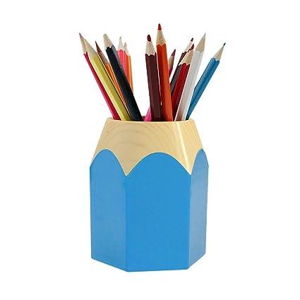 Cute Pencil Tip Design Pen Pencil Holder Office Home Makeup Brush Pot  Cabinet Desk Pencil Cup