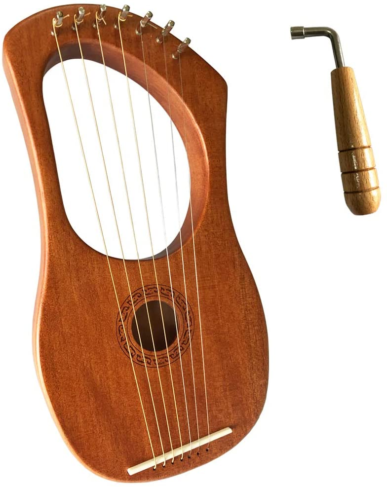 Amazon Com Luvay Lyre Harp Orchestral Strings Instrument With Tuning Wrench Musical Instruments