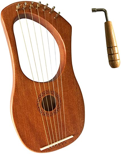 Amazon.com: Luvay Lyre Harp - Orchestral Strings Instrument, with Tuning  Wrench: Musical Instruments