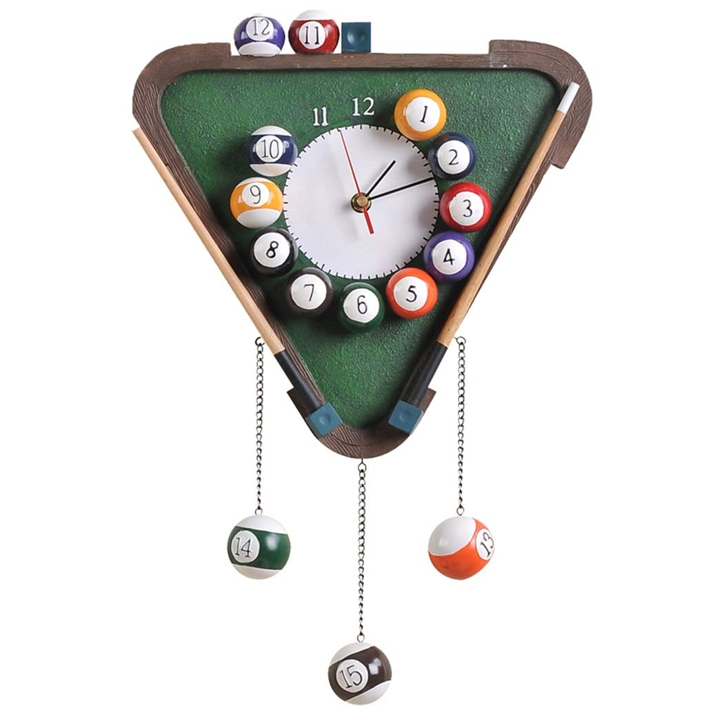 FJKAHGA Wall Hanging Clock Modern Style Home Bedroom Kitchen Decor, Great Gift - Billiard Wall Clock