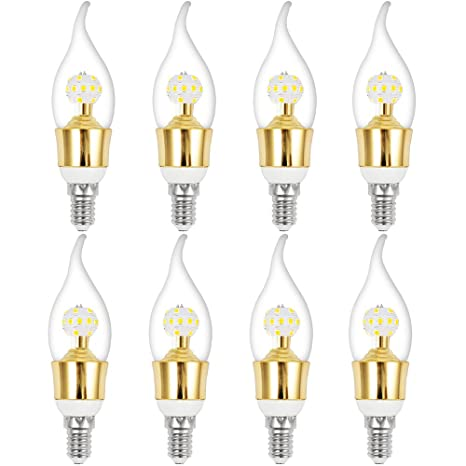 Eleoption Dimmable Decorative Candle Light Bulb Candelabra