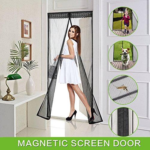Magnetic Screen Door, Vdealen Door Mesh Fly Mosquito Curtain with Magnets & Full Frame Velcro,Fit Door Size 36