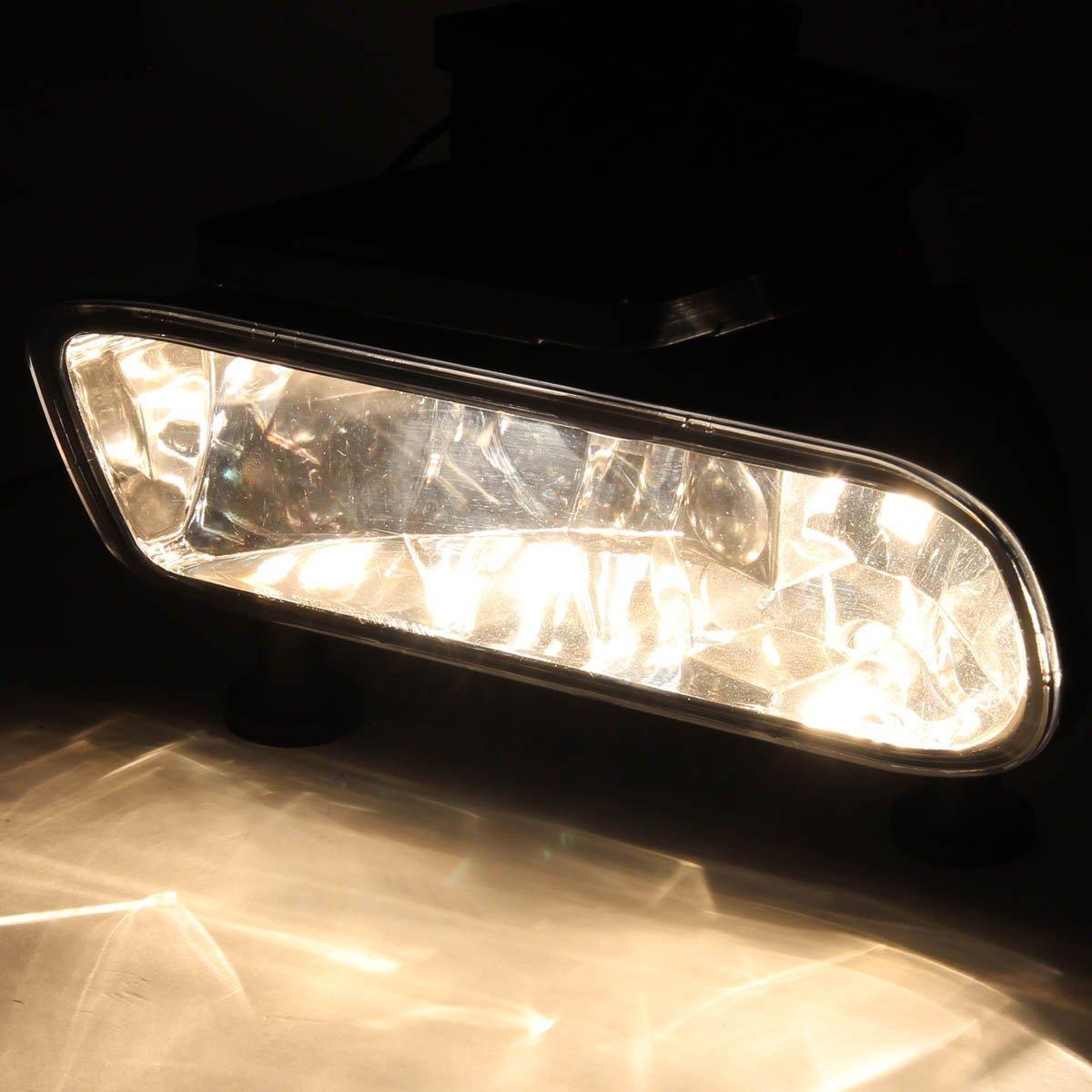 Rxmoto 99-02 CHEVY SILVERADO 1500 /& 2500 OEM STYLE FOG LIGHTS LIGHT Black /… BLACK CHROME