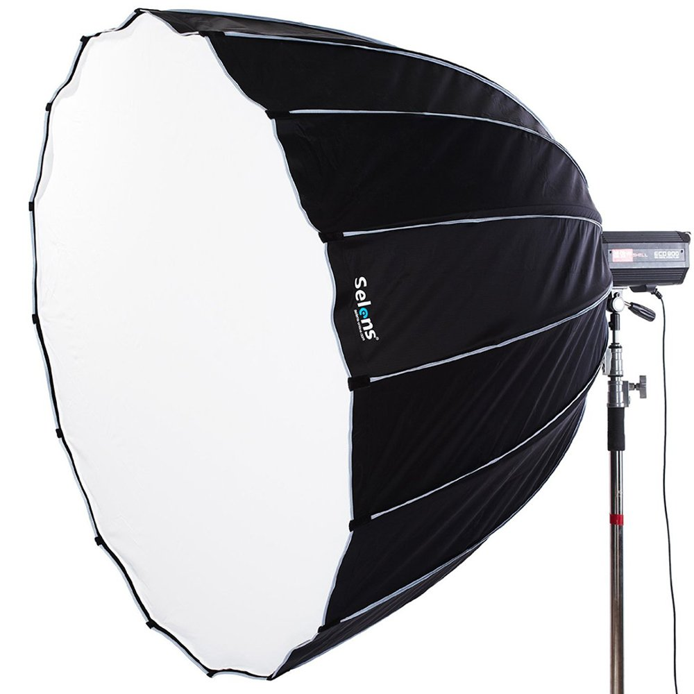Selens Portable Parabolic Softbox 60 inches / 150 Centimeters, Hexadecagon Deep Parabola Quick Folding Softbox with Bowen Mounts for Studio Light and Speedlite Flash by Selens
