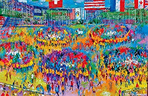 """The Chicago Merchantile Exchange – CME Serigraph"" by LeRoy Neiman"