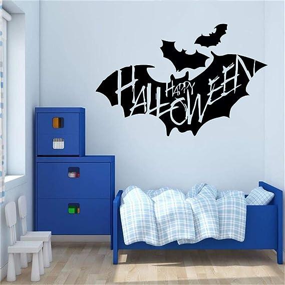 JiaMeng Pegatinas de Pared Feliz Halloween Etiqueta de la Pared del hogar de la casa Etiqueta de la decoración Mural extraíble Víspera de Todos los Santos: ...