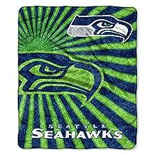 NFL Seattle Seahawks Strobe Sherpa Throw Blanket, 50x60-Inch