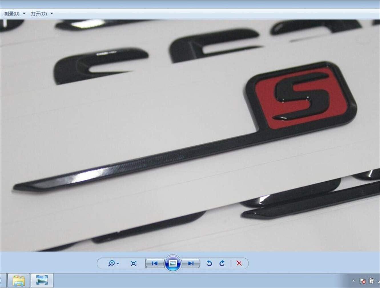 chisushangm Chrom Schwarz Rot Buchstaben S Kofferraumdeckel Emblem Badge C63s E63s CLS63s GLE63s GLC63s AMG