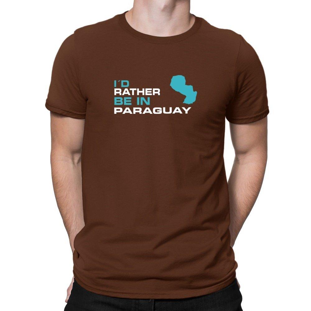 Teeburon ID Rather BE IN Paraguay Camiseta: Amazon.es: Ropa ...
