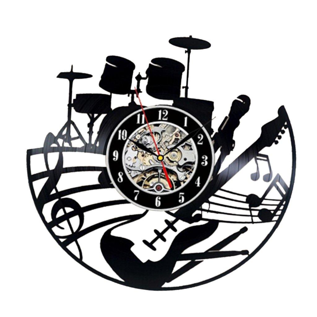 Amazon.com: Jili Online Decorative Classic Black Art Clock Vinyl Record Wall Clock Wonderful For Office Shop DIY: Home & Kitchen