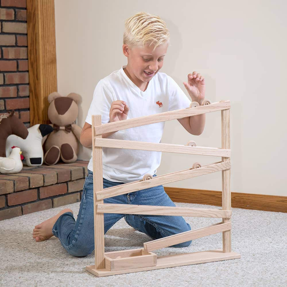 Lehman's Handcrafted Eli & Mattie Amish-Made Single Wheel Roller Toy by Lehman's (Image #1)