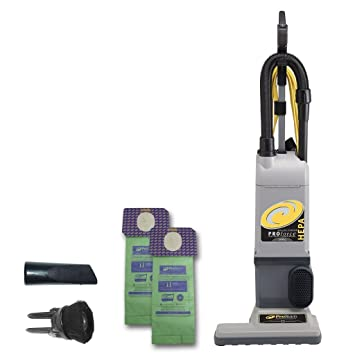 ProTeam ProForce 1500XP Bagged Upright Vacuum Cleaner With HEPA Media Filtration Commercial