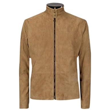 e4685063bebf3 Mens James Bond Brown Suede Daniel Craig Spectre Morocco Blouson Leather  Jacket (XXS)