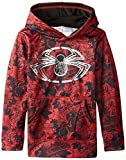 Marvel Boys' Spiderman Sublistatic Pullover Hoodie, Red, 4