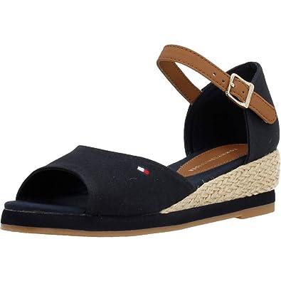 9bab103fe Tommy Hilfiger Girls  K3285ristin 5c1 Wedge Heels Sandals  Amazon.co ...