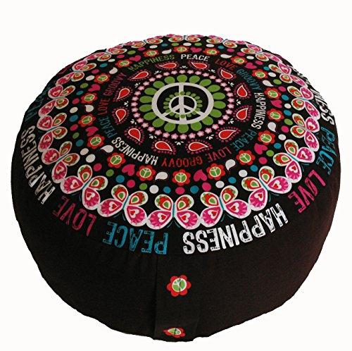 Meditation Cushion Zafu Pillow Buckwheat & Kapok Fill - Limited Edition