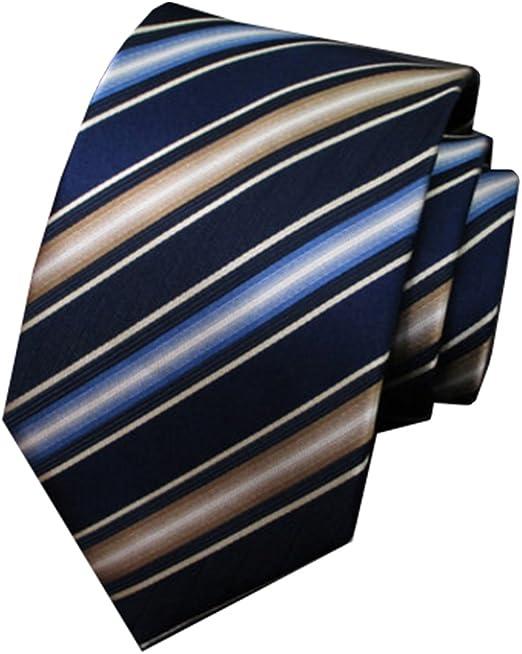 Y-WEIFENG Corbata de Boda para Hombre Corbata de Boda Azul Blanco ...