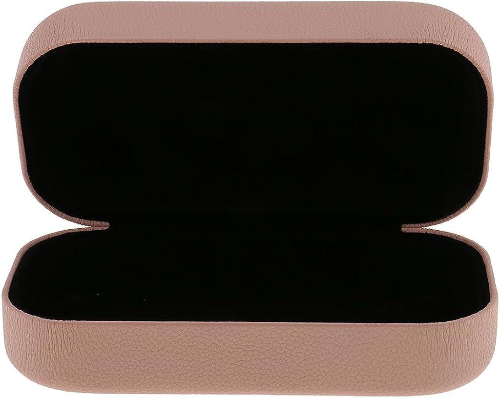 MagiDeal Hartschalen Brillenetui Brillenbox Sonnenbrillen Sportbrillen Lesebrillen Brille Etui PU Leder+Metall gro/ß und elegant Brillenschutz Box