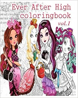 amazoncom ever after high coloring books coloring book vol1 stress relieving coloring book 9781548492465 alexa cosmo books - Ever After High Coloring Book