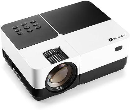 Proyector de Vídeo, Houzetek Proyector LED con Lúmenes 3000 ...