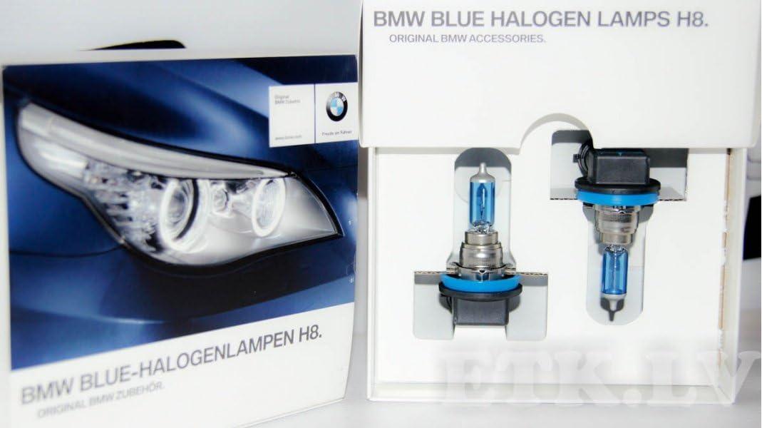 Original BMW Blue Halogenlampen H8 E90 E91 E92 E93 E60 E61 LCI Tagfahrlicht weiß