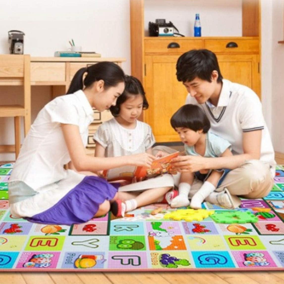 henan Smart Kids Crawling 2 Side Soft Foam Educational Game Play Mat Picnic Carpet 120X180cm None 02