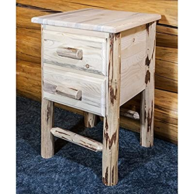Montana Woodworks Montana Collection 2-Drawer Nightstand/End Table