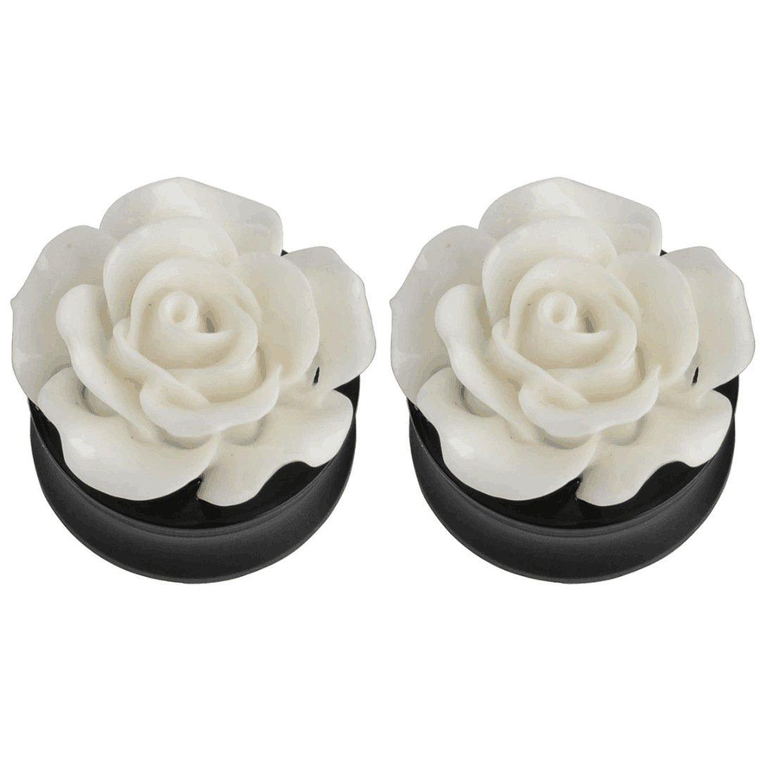 Kokoma Rose Ear Plugs (Plug gauge=25mm(1'')