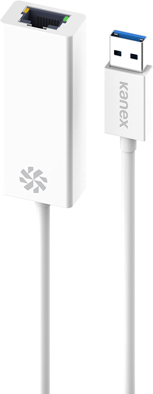 Kanex USB 3.0 to Gigabit Ethernet Adapter compatible with Windows and Mac iOS-White