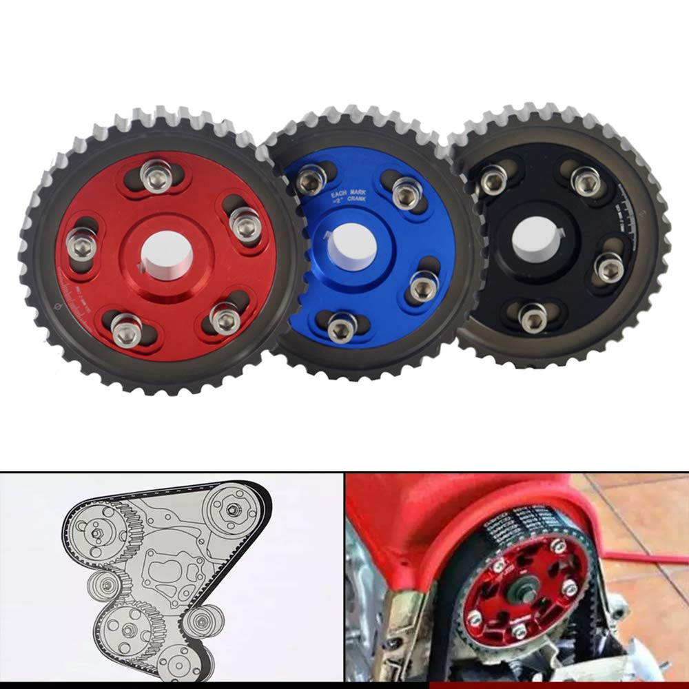 PQYRACING Adjustable Cam Gear Alloy Timing Gear for Honda SOHC D15/D16 D-Series Engine CAM Pulley PULLYS Gears 1PCS