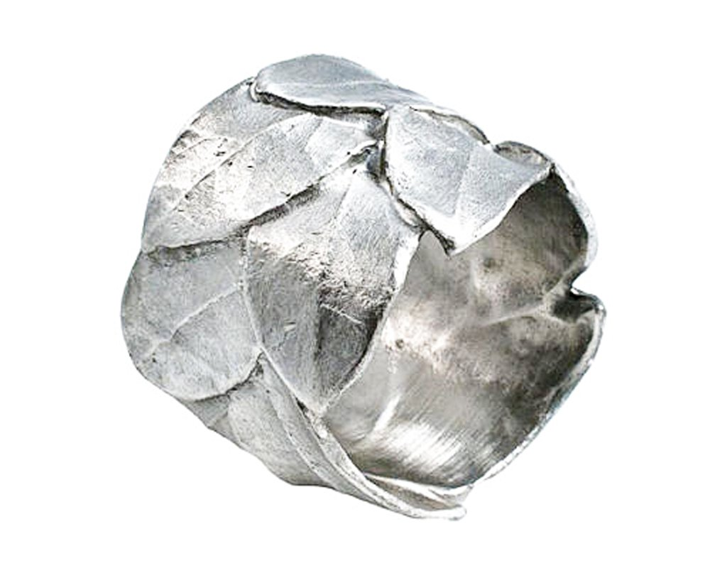 ''Silver Bay Leaf Napkin Rings'' (Set of 4) by Michael Michaud for Silver Seasons ~ Table Art