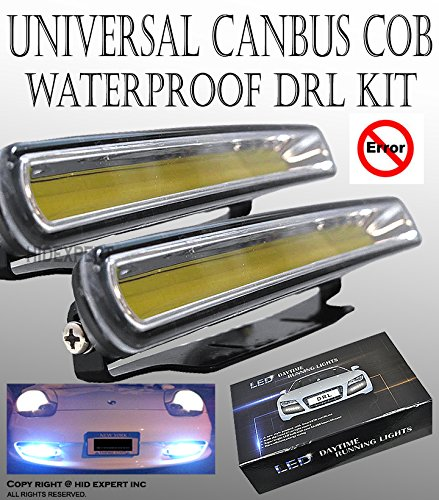 ICBEAMER 1 sets Universal Daytime Running Light (DRL) High Power Gives Audi Look Bright LED COB [Color:Super White]