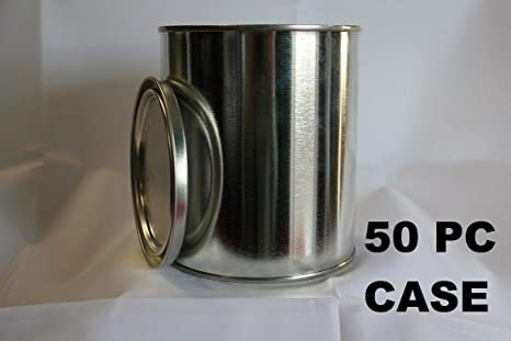 Quality Pint Size Empty Metal Paint Cans With Lids 50 Cans And 50 Lids Wholesale Case Amazon Com Industrial Scientific
