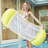 Volwco Hammock Float Portable Swimming Pool Lounge Inflatable Water Pillow