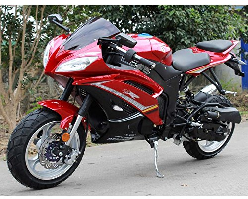 Motorcycle Single cylinder 4 stroke air cool 50 cc bike (Red) ()