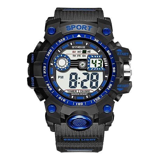 Oldhorse Reloj Digital con indicación Luminosa de Moda para Hombre Relojes de Pulsera: Amazon.es: Relojes