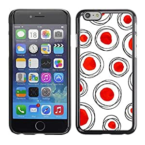 [Neutron-Star] Snap-on Series Teléfono Carcasa Funda Case Caso para Apple (4.7 inches!!!) iPhone 6 / 6S [Red Dot Polka blanco limpio]