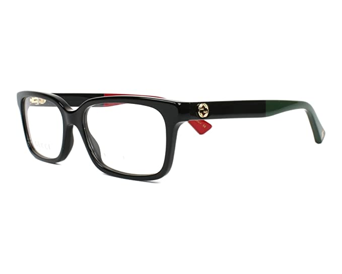 c7c77489bfcda Eyeglasses Gucci GG 0168 O- 003 BLACK    Amazon.co.uk  Clothing