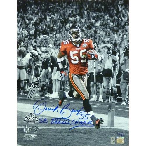 (Derrick?Brooks?Autographed Tampa Bay Buccaneers (SB TD Spotlight) 16x20 Photo w/