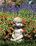 OrlandiStatuary Baby by Ann Copper Statue, 12″, White Moss