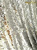 ShinyBeauty Mermaid-Sequin Curtain-Backdrop-Silver-8FTx10FT,Reversible Sequin Fabric Backdrops For Photography,Apply to Party/Wedding/Event/Prom/Birthday
