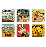 Comics - The Adventures of Asterix - Asterix & Obelix - Brave Gaul - Set of coasters - Set of 6 Drinks Mats - multicoloured - Licensed original design - Logoshirt