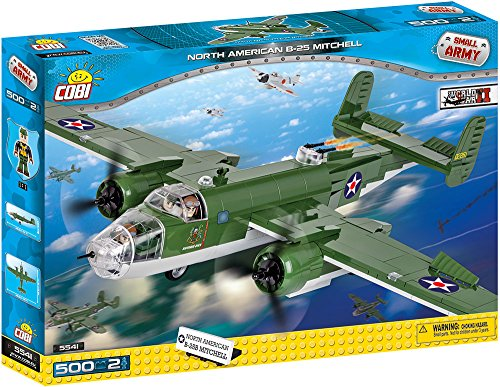 COBI Small Army B-25 Mitchell Bomber Plane Building Kit ()
