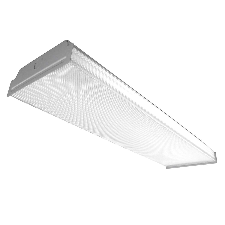 Amazon com utilitech prismatic acrylic ceiling fluorescent light