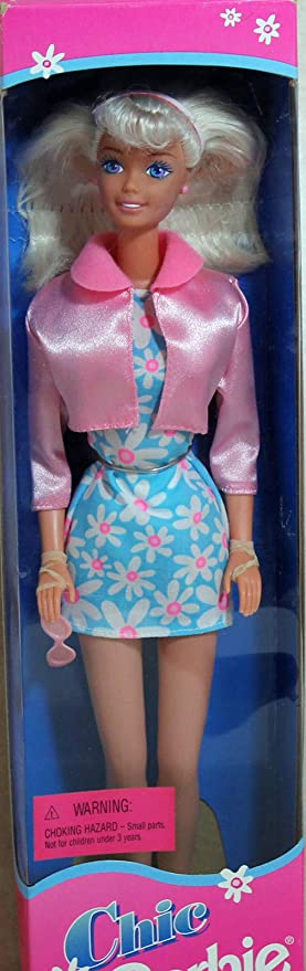 Mattel Fashion Avenue Blonde Chic Barbie in Blue Barbie Doll
