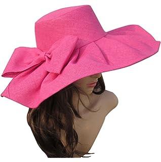 Mujer Sombreros y Gorras Sombrero de Verano Mujeres Kentucky Derby Sombrero  de ala Ancha Iglesia de la Boda Mar… 1dac220e696