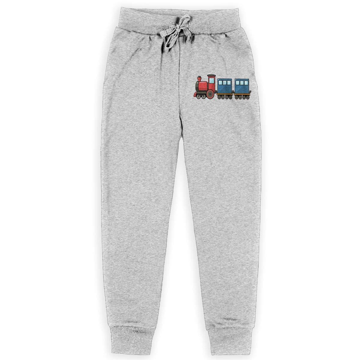 Vintage Train Teenagers Cotton Sweatpants Comfortable Joggers Pants Active Pants