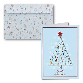 Frohe Weihnachten Brief.15x Weihnachtskarten Din A6 Kunterbunte Weihnachten Mit