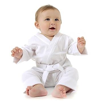 Baby grappling bebé gi blanco miniatura Judo/BJJ/Karate 100 ...